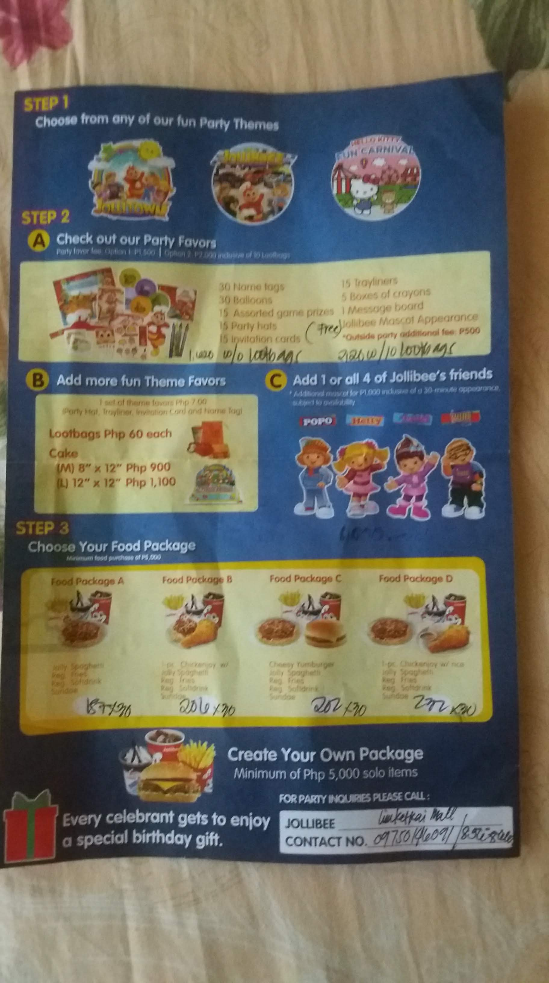 Throwing A Jollibee Party Know Their Rates Packages